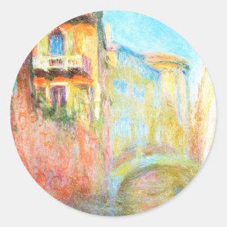 Rio della Salute  Claude Monet Round Stickers