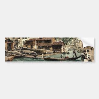 Rio di San Trovaso, Venice, Italy classic Photochr Bumper Sticker