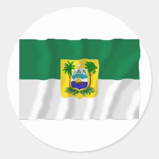 Rio Grande do Norte, Brazil Waving Flag Round Sticker
