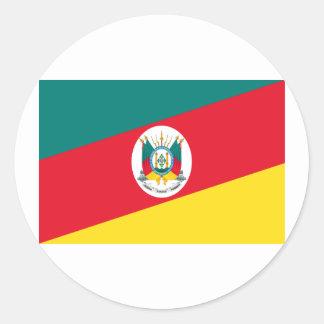Rio Grande do Sul, Brazil Flag Classic Round Sticker