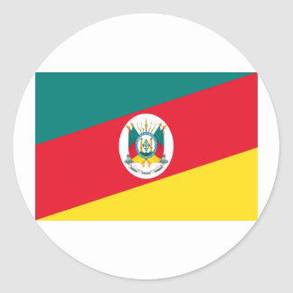 Rio Grande do Sul, Brazil Flag Round Sticker