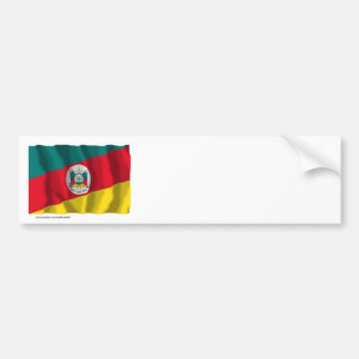 Rio Grande do Sul, Brazil Waving Flag Bumper Sticker