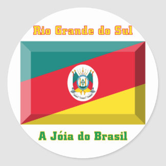 Rio Grande do Sul Flag Gem Round Sticker