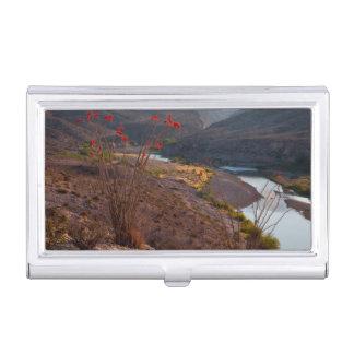 Rio Grande Running Through Chihuahuan Desert Business Card Holder