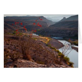 Rio Grande Running Through Chihuahuan Desert Card