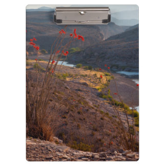 Rio Grande Running Through Chihuahuan Desert Clipboards