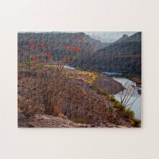 Rio Grande Running Through Chihuahuan Desert Jigsaw Puzzle