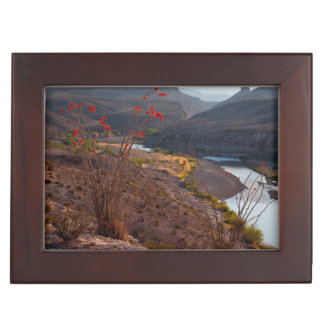 Rio Grande Running Through Chihuahuan Desert Keepsake Box