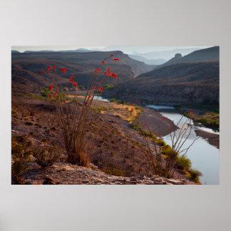 Rio Grande Running Through Chihuahuan Desert Poster