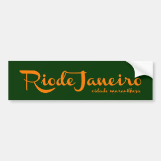 Rio Rio the wonder city Bumper Sticker