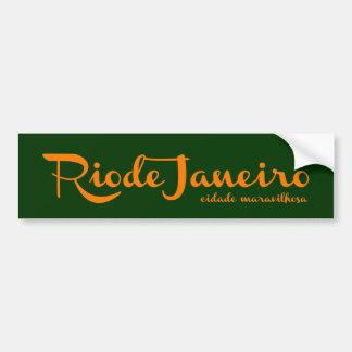 Rio Rio the wonder city Bumper Sticker
