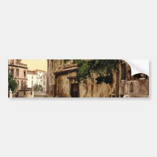 Rio San Trovaso and palace, Venice, Italy classic Bumper Stickers