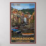 Riomaggiore Harbour Poster