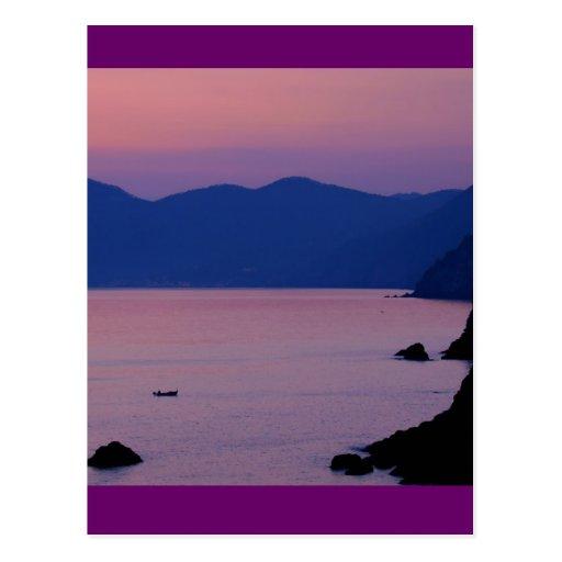 Riomaggiore Sunset Postcards