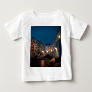 Riomaggiore village at night, Cinque Terre, Italy Baby T-Shirt
