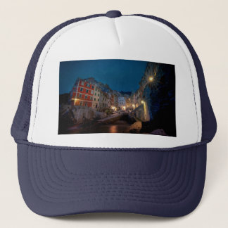 Riomaggiore village at night, Cinque Terre, Italy Trucker Hat