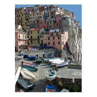 Riomaggiore Village Italy Cinque Terre Postcard
