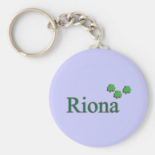 Riona Irish Girl Basic Round Button Key Ring