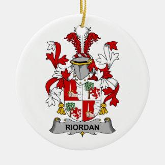 Riordan Family Crest Christmas Ornament