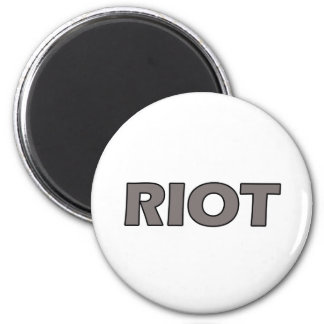 Riot 6 Cm Round Magnet