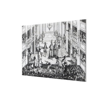 Riot at Covent Garden Theatre in 1763 Canvas Print
