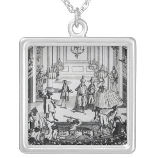 Riot at Covent Garden Theatre in 1763 Silver Plated Necklace
