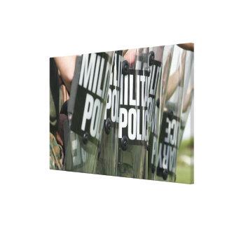 Riot control formation canvas print
