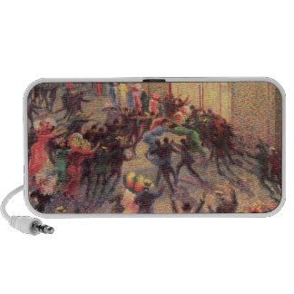 Riot in the Galleria, 1909 (oil on canvas) Laptop Speakers