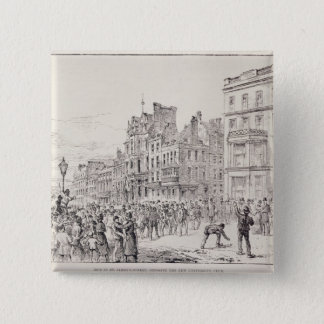 Riots in the West End of London 15 Cm Square Badge