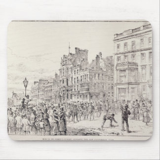 Riots in the West End of London Mouse Pad