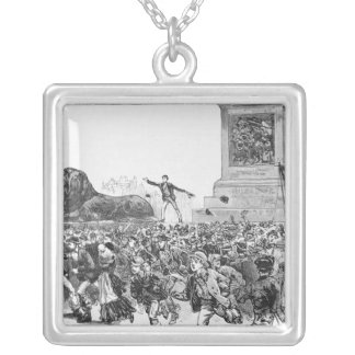 Riots in the West End of London Silver Plated Necklace
