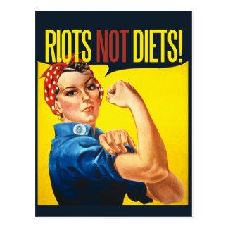 Riots not Diets - vintage feminism Postcard