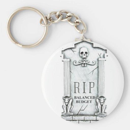 RIP BALANCED BUDGET GRAVESTONE PRINT KEY CHAIN