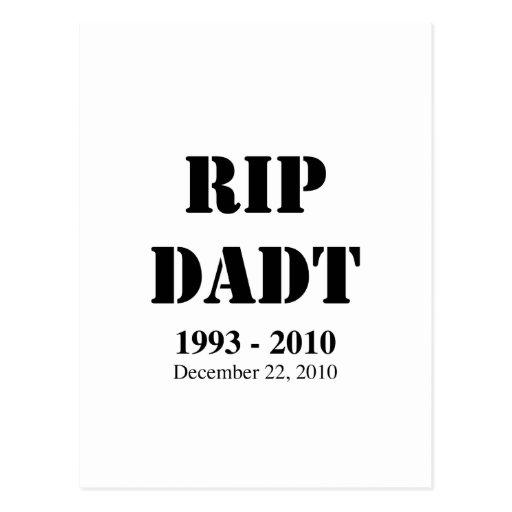 RIP DADT POSTCARDS