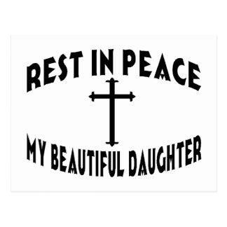 RIP Daughter Postcard