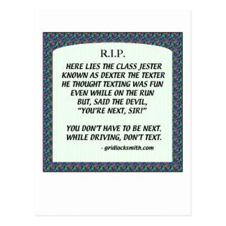 RIP-DEXTERtheTEXTER Postcard