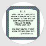 RIP-DEXTERtheTEXTER Round Stickers