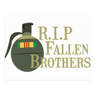 RIP Fallen Brothers Postcard