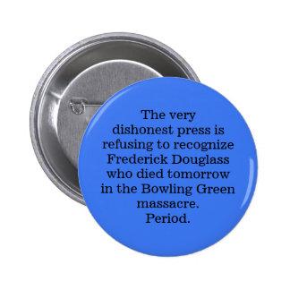RIP Frederick Douglass 6 Cm Round Badge