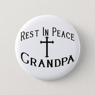RIP Grandpa 6 Cm Round Badge