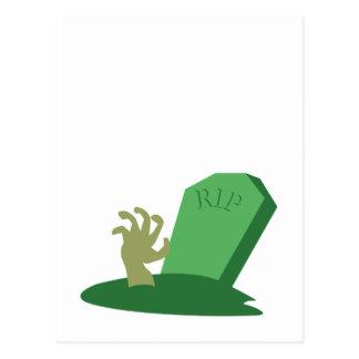 RIP Grave Postcard