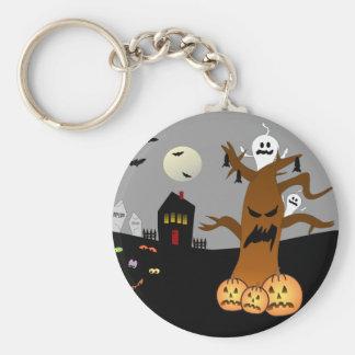 RIP Graveyard Halloween Keychain