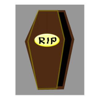 RIP Halloween Coffin of Doom Postcard