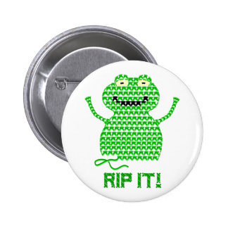 Rip It! Vector Crochet Frog 6 Cm Round Badge