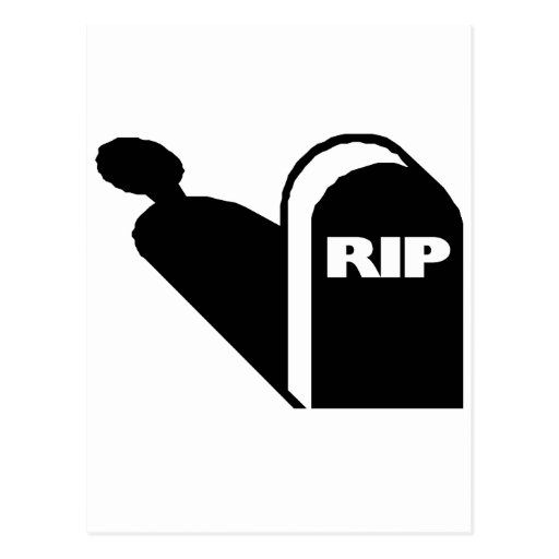 RIP - Rest In Peace Grave Ghost Memorial Postcard