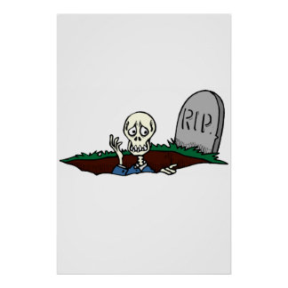 RIP Skeleton Posters