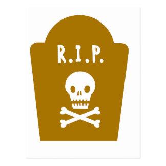 RIP Skull Postcard