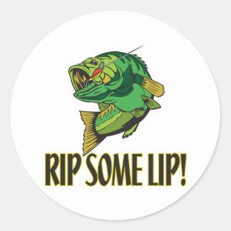 Rip Some Lip Round Sticker