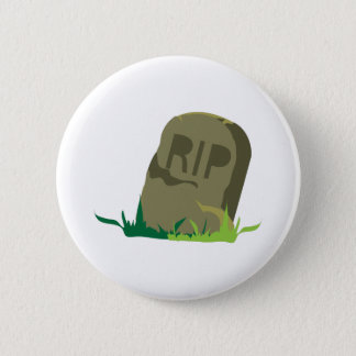 RIP Tombstone 6 Cm Round Badge