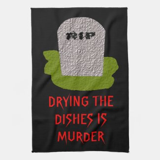 RIP Tombstone Funny Kitchen Towel